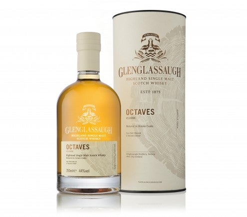 Web edit - Glenglassaugh Octaves Classic - bottle in front of tube LR